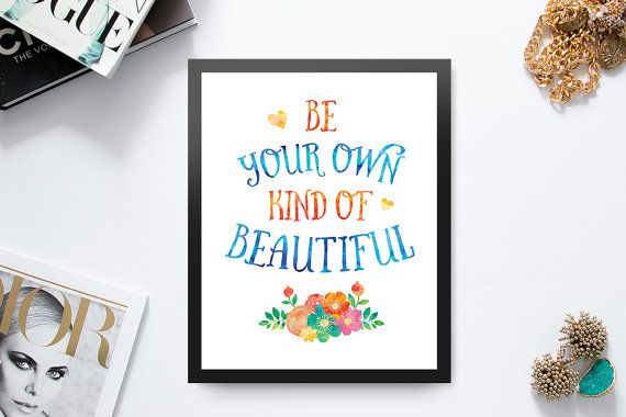 Printable Wall Art  Quote Print  Be Your Own Kind of by Majesthink
