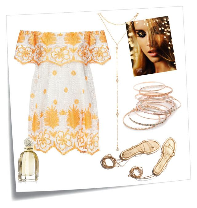 """Golden Hour"" by lula-kruta ❤ liked on Polyvore featuring Post-It, Miguelina, Red Camel and Fragments"