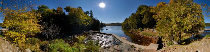 From Wikipedia: http://en.wikipedia.org/wiki/Meech_LakeMeech Lake ( French: Lac Meech) is located within Gatineau Park in the Municipality of Chelsea, Quebec, Canada (about 20km NW of Gatineau). The lake was named after Reverend Asa Meech, an early settler in this area.