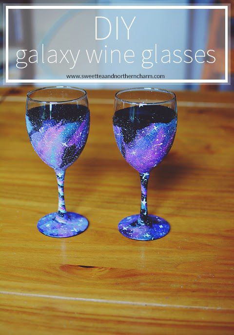 Best 25 galaxy crafts ideas on pinterest space painting for Wine glass painting tutorial
