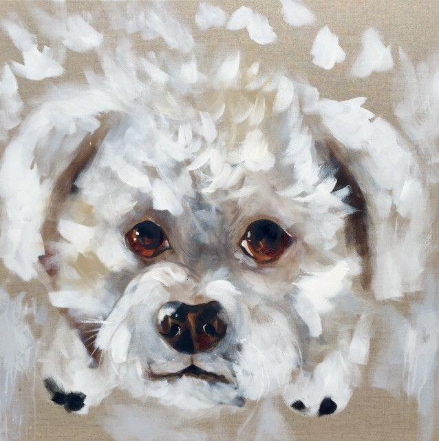 Dudley commissioned pet portrait  90 x90 cm