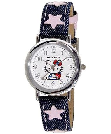 HELLO KITTY Blue Leather Strap HK2000-110