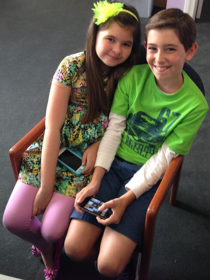 Fit for Two|Don't you just love the chumminess between these two? While Addison and Diego play siblings on the show, they're good buds behin...