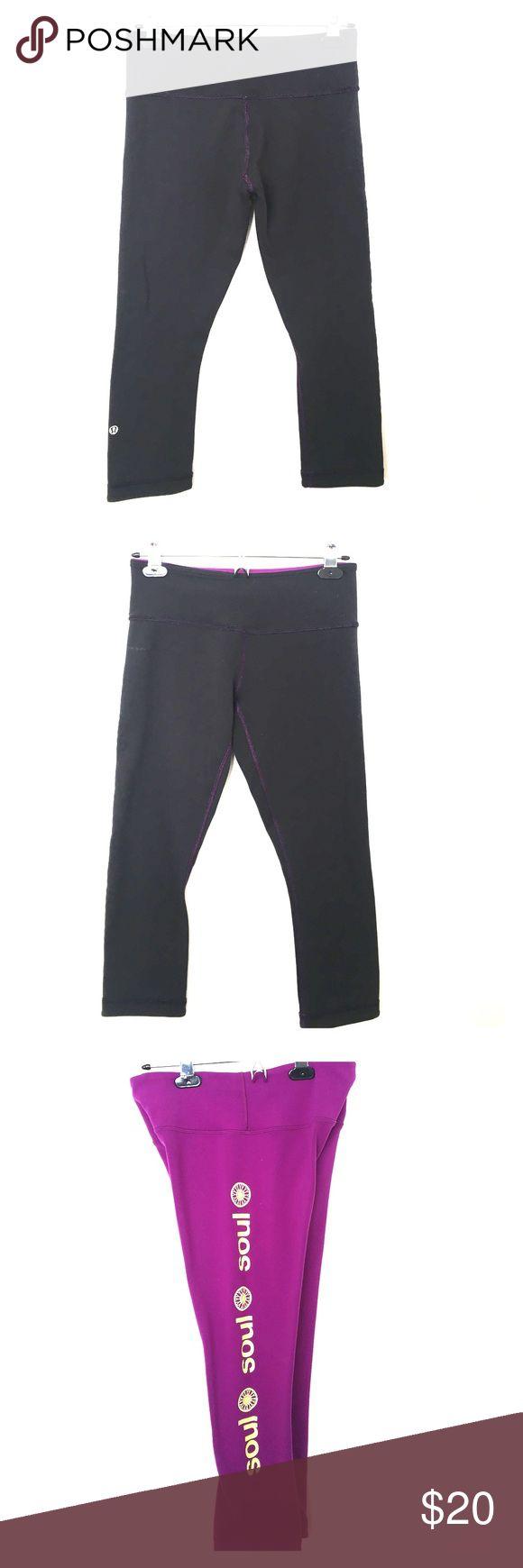 LuluLemon Athletica Reversible Yoga Pants LuluLemon Athletica SoulCycle Edition Reversible Yoga Pants lululemon athletica Pants Track Pants & Joggers