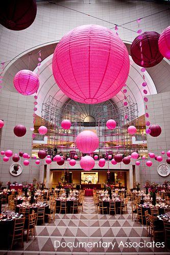 GREEN IDEA: Paper Lanterns!: Stunning Weddings, Paper Lanterns, Featured Weddings, Wedding Ideas, Building Dc, Wedding Lanterns, Washington Dc, Wedding Events