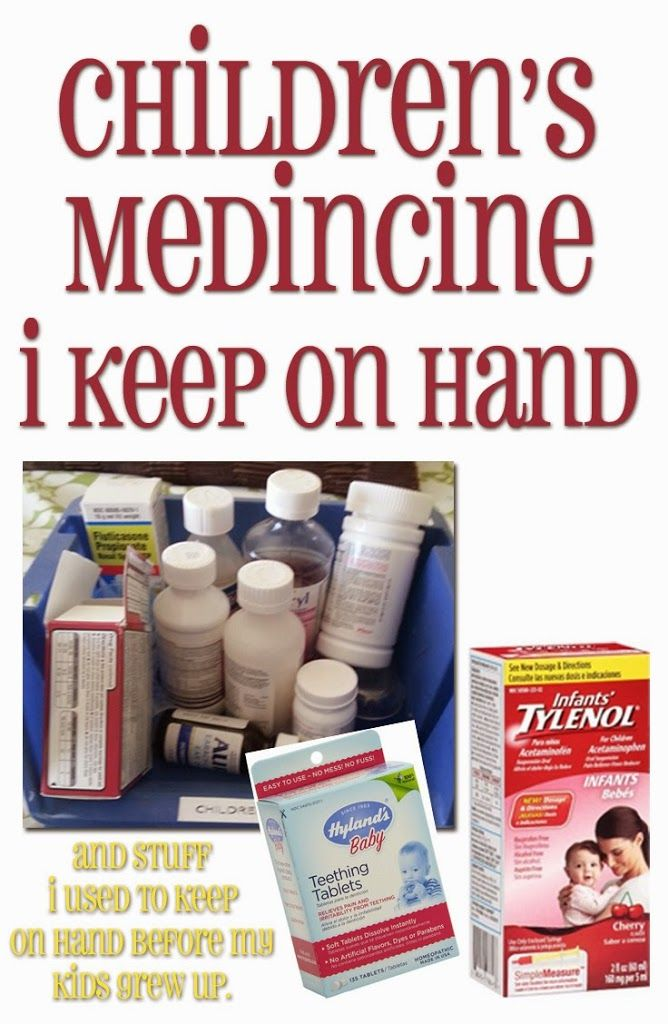 What I keep on hand for children's medicine.  What's important, and what's not?