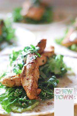 Super Tasty Chicken Wraps | Chew Town Food Blog