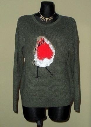 Kup mój przedmiot na #vintedpl http://www.vinted.pl/damska-odziez/swetry-z-dzianiny/12358876-sweterek-ptaszek-dunnes-stores-zielony-cieply-lm-sweter