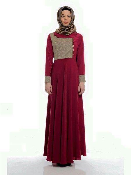 Abaya Hijab Islamic dress Tesettür giyim Www.tacmahal.com