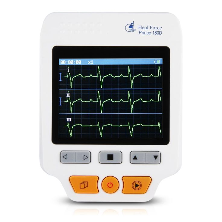 Heal Force 180D Color Portable ECG Monitor With ECG lead cables And 50pcs ECG electrodes. Equipped with more advanced functions and features than 180-B. Small in size, light in weight, and easy to carry. ECG waveform and interpretation of results are displayed clearly on color dot-matrix LCD screen. High capacity of built-in memory, up to 30 hours ECG waveform storage for single channel continuous measurement. Quick measurement by built-in metal electrodes, external lead wires (including...