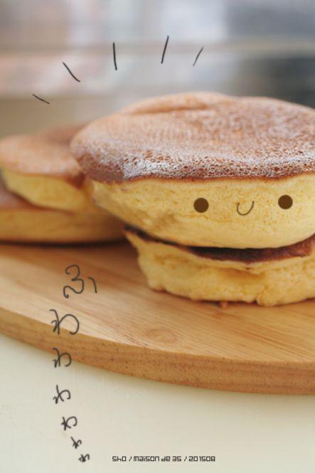 ⑤桃色♡ふわふわパンケーキ風  出典: maison-de-3s.fraise54.com 卵黄と卵白に分け、砂糖を入れて混ぜる生地・メレンゲの作り方はほぼ同じす。生地とメレンゲを混ぜ合わせ、フライパンにバターを引き、パンケーキのように焼いていくだけ!パンケーキよりもふわふわが楽しめます♡