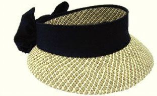Kate Lord Toyo Ladies Golf Straw Visors  with Black Sash and Bow. Get this at #lorisgolfshoppe