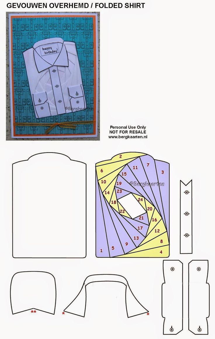 Iris Folding: Folded Shirt