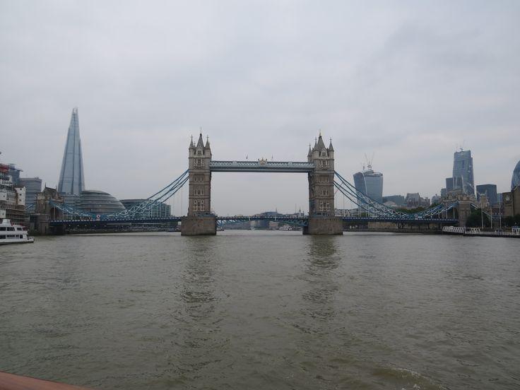 River Thames cruise. The Shard and Tower Bridge. London,England
