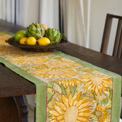 Couleur Nature Sunflower Tablecloth U0026 Reviews   Wayfair