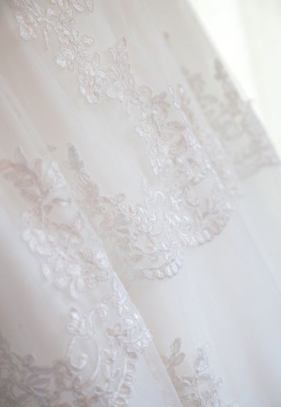 Lace and silk tulle wedding gown, detail from the skirt- Mitheo Events   Concept Events Styling