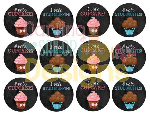 Cupcake or Stud Muffin Gender Reveal Party by DarlingSailorDesigns