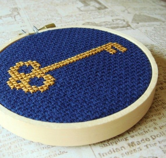 cross stitch key
