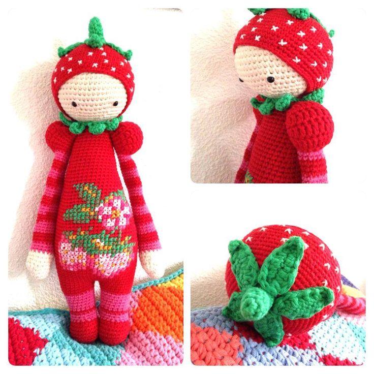strawberry mod made by Natasja S. / based on a lalylala crochet pattern