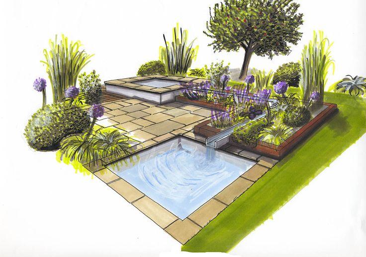 Illustration for Kent. Ashley Thompson Garden Design