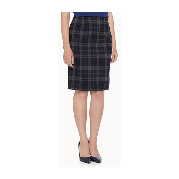 contemporaine plaid flannel pencil skirt 163 25 liked on