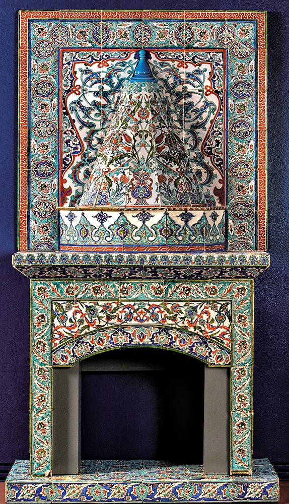 A 20th century, tiled stove - Kutahya Turkey.
