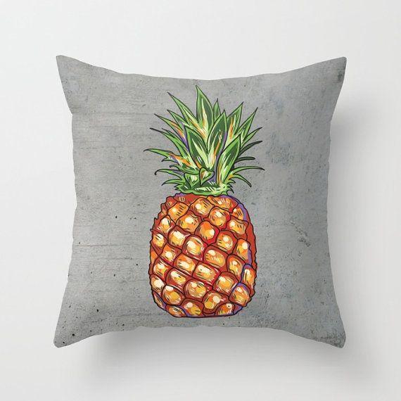 Throw Pillow  Pineapple Pillow  Decorative Pillow  Tropical