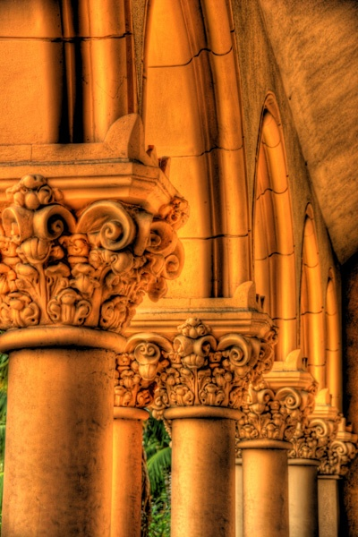 Columns adorn many of the buildings in Balboa Park. Photo by Paul Koester.