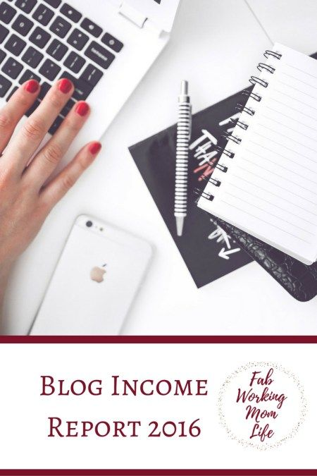 Blog Income Report for 2016