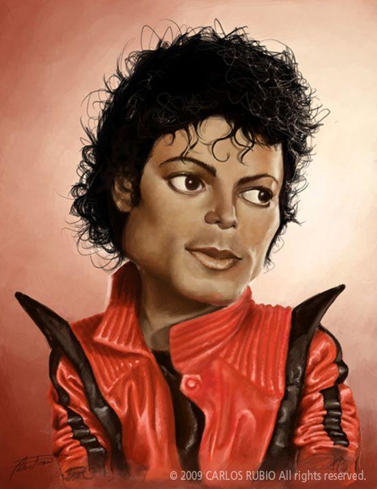 Funny Celebrities Caricatures | 92pixels  MICHAEL JACKSON
