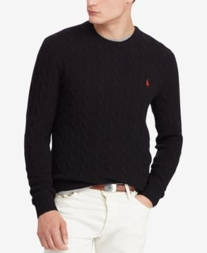 62047814875 Polo Ralph Lauren Men s Cashmere Wool Blend Cable-Knit Sweater ...