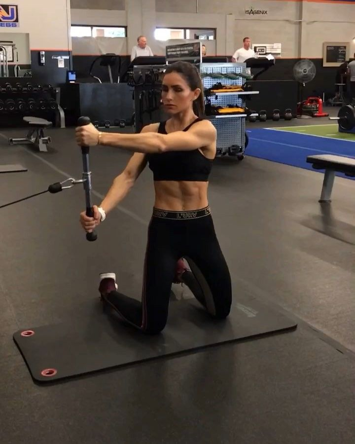 """14k Likes, 137 Comments - Alexia Clark (@alexia_clark) on Instagram: """"Cables on Monday 1. 12 Reps each 2. 15 each side 3. 12 Reps each 4. 12 Reps each side 3-5…"""""""