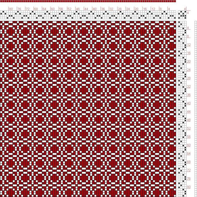 Franz Donat | page 176: figure 3:Large Book of Textile Designs | Germany | c. 1895 | 4-shaft, 4-treadle