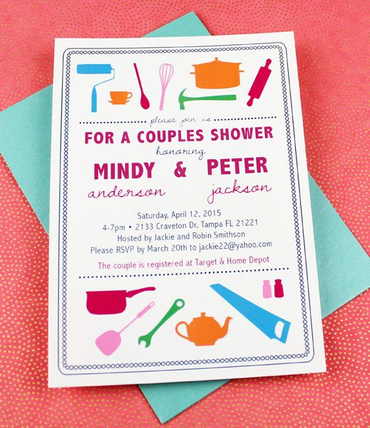 1000 images about bridal shower planning invitation for Wedding couples shower invitations