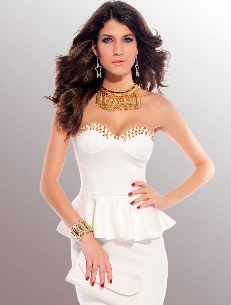 White Fashion Wrapped Chest Mini Dress