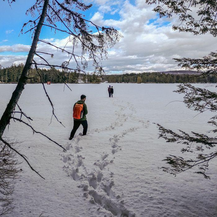 Lac gelé dans le New Hampshire