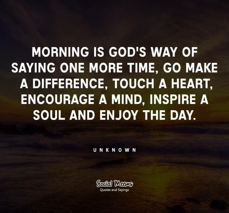 Morning is..