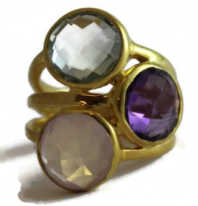 Kate Multi Gem Ring (Vermeil)