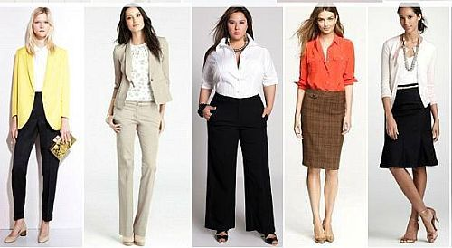 Pants and Suits: Pants are fine, but stick to tailored pants with a crease. Khaki, twill, and corduroy are good fabric choices for business casual but stay away from denim and heavy cotton materials. Pants and suits made from wool and wool blends are good standard business attire and work for all seasons.