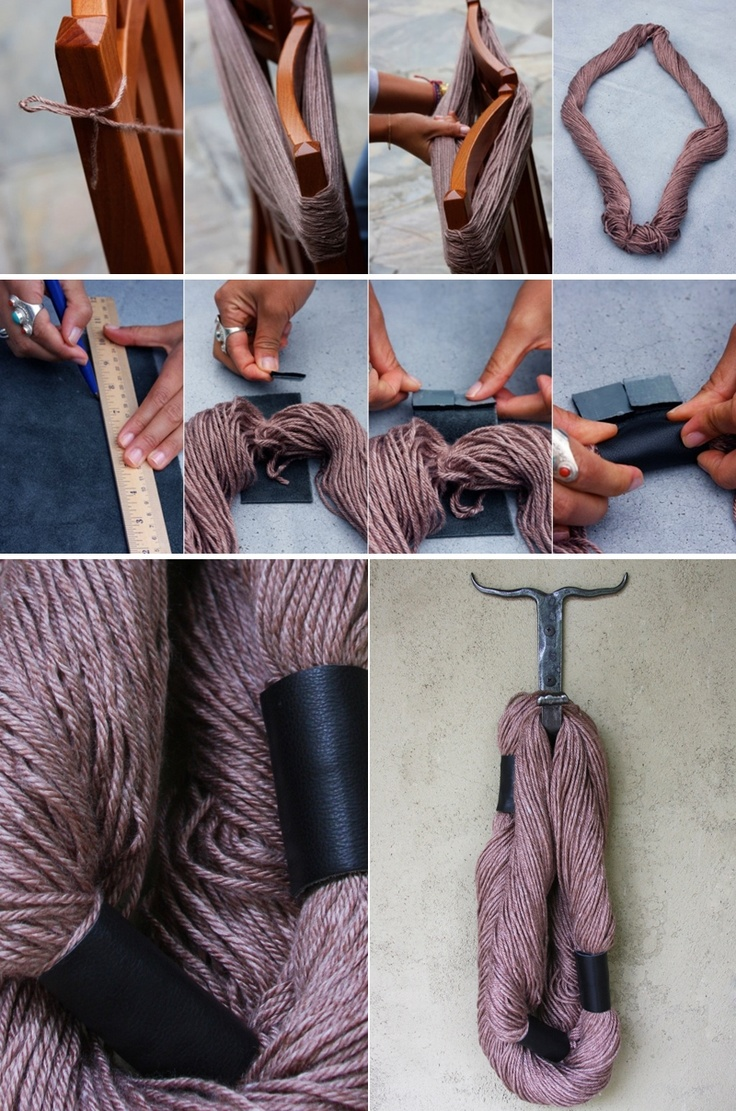 DIY: no knit scarf