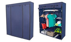 Groupon - Portable Wardrobe Clothes Rack with Shelves. Groupon deal price: $39.99