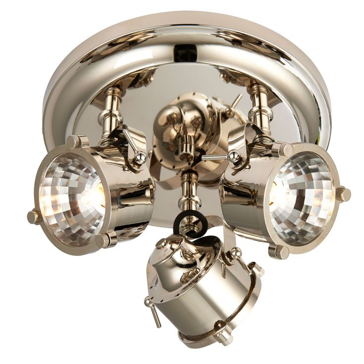Cayley Nickle Effect 3 Lamp Ceiling Spotlight | Departments | DIY at B&Q
