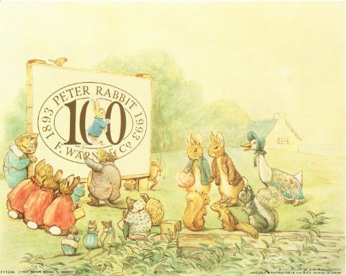 Make a beautiful statement or impression with this dramatic print of tale of Peter Rabbit Beatrix Potter art print poster. It will attract new generations of little ones and would be a great addition for your kid's room. Hurry up and order this poster for its excellent quality with high degree of color accuracy.