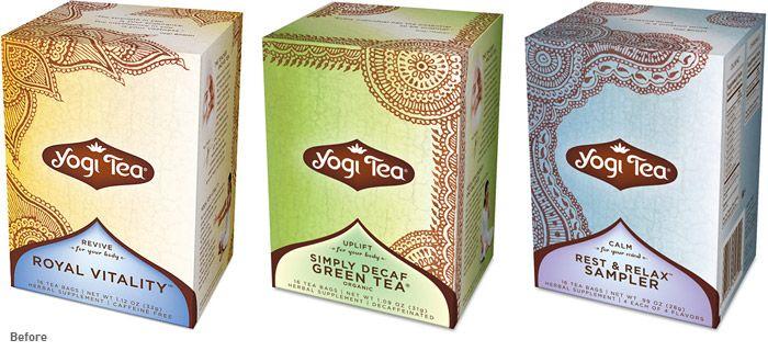 Yogi tea packing (before)