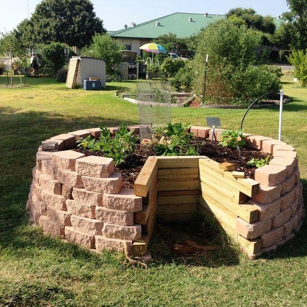 Keyhole Garden Design Ideas Diy Raised Garden Beds Backyard Herb