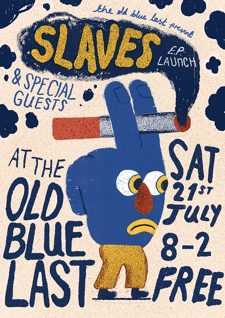 Liam Barrett, Slaves EP Launch poster
