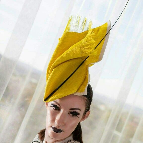 The #SOVATA 'Kaitlyn Twist' perfect for Spring Racing.  For more information visit - https://www.etsy.com/listing/239397007/kaitlyn-twist #zerowaste #millinery #fascinator #fashfest