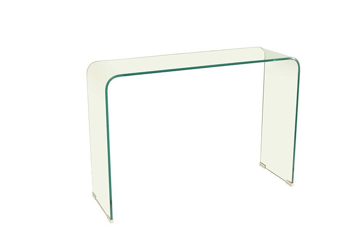 Azuro Bent Glass #Console Table Chic and Minimalistic Home Decor Inspiration  #HomeDecor #ConsoleTable #Glass #HomeInspiration #Ideas #HomeIdeas #Chic #Minimalistic #LivingRoom #Ad