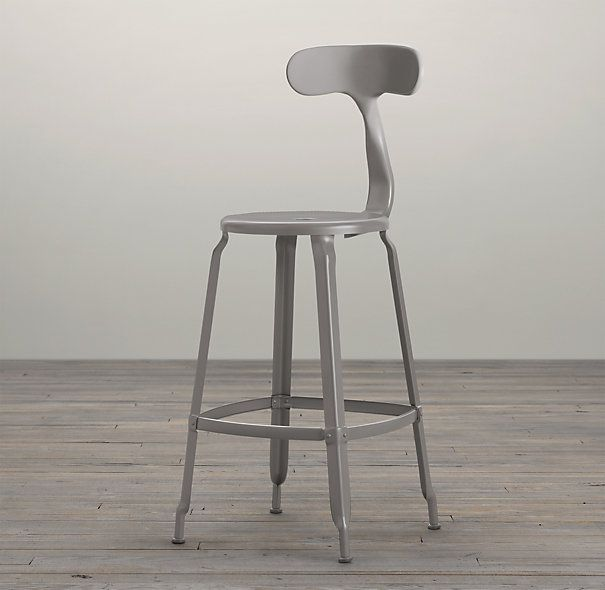 French T Back Counter Stool Matte Grey //.restorationhardware.com & 26 best SEATING images on Pinterest | Counter stools Bar counter ... islam-shia.org
