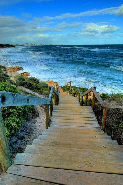 Brought to you by http://www.etsy.com/people/UncommonRecycables: Walks, Paths, Stairs, The Ocean, Beautiful Places, Pathways, Westerns Australia, The Beaches, The Sea